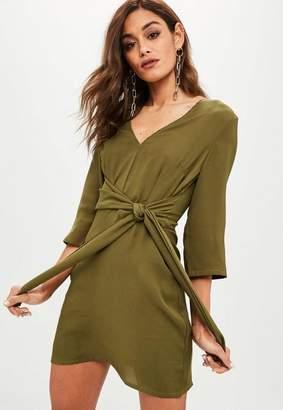 Missguided Wrap Tie Waist Shift Dress