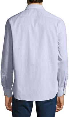 Thomas Dean Men's Woven C3 Tech Button-Down Shirt