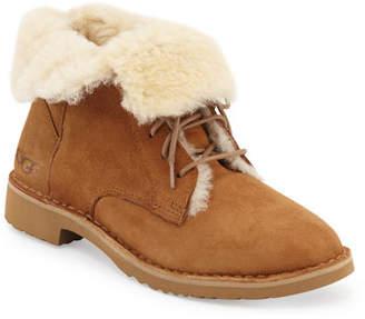 UGG Quincy Shearling Fur Combat Boot