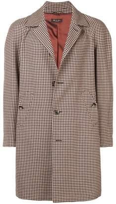 Loro Piana houndstooth single-breasted coat
