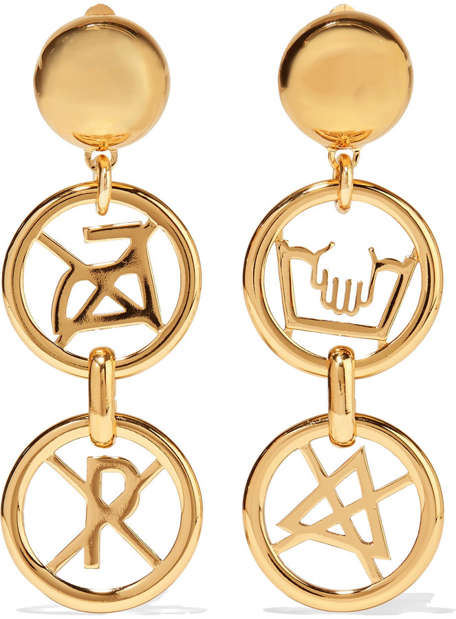 MoschinoMoschino Gold-tone earrings