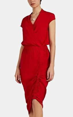 Zero Maria Cornejo Women's Tasmeen Silk Charmeuse Wrap Dress - Red