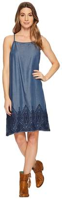 Stetson Tencel Slip Dress with Embroidery Women's Dress