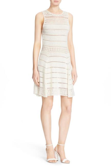 Alice + Oliviaalice + olivia Noella Crochet Linen Blend Dress