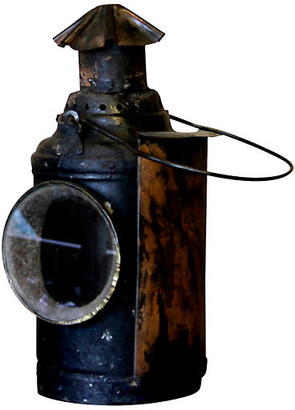 One Kings Lane Vintage Iron Railway Lantern - de-cor