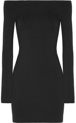 Hunting Stretch Modal-blend Mini Dress - Black