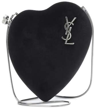 Saint Laurent Love Box suede shoulder bag