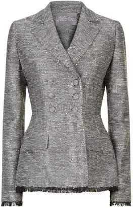 Lela Rose Embellished Tweed Blazer