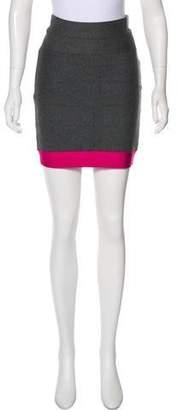 Herve Leger Knit Mini Skirt
