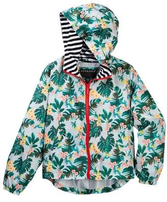 Bernardo Windbreaker with Striped Hood (Big Girls)