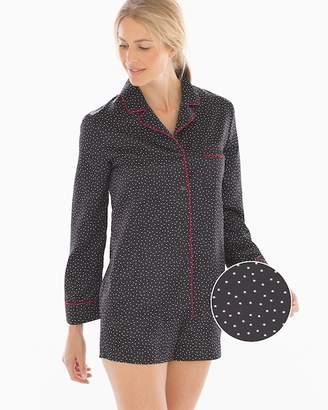 In Bloom Look of Love Satin Shorts Polka Dot Pajama Set