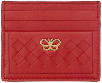 Bottega Veneta Red Intrecciato Butterfly Card Holder