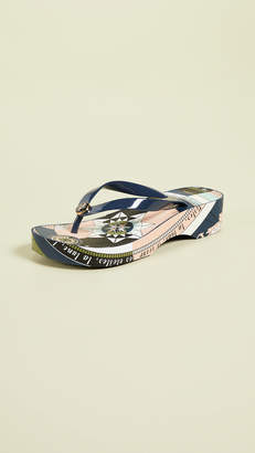 711b52a6015a Tory Burch Cutout Wedge Flip Flops