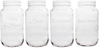 Cathy's Concepts Cathys Concepts Wedding Party Set Of Four 26Oz Mason Jars