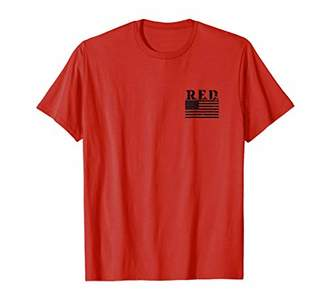 R.E.D. Friday Left Chest T-shirt Remember Everyone Deployed