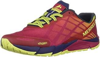 Merrell Women's Bare Access Flex Trail Running Shoe, Black/Metallic Li, 6 M US