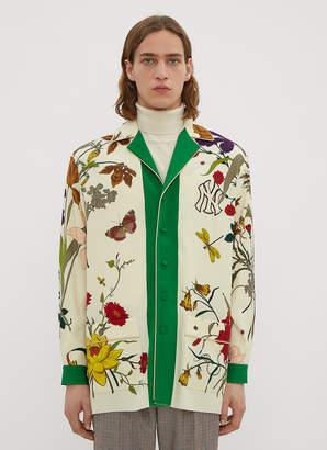 Gucci New York Yankees Gothic Print Shirt in Beige