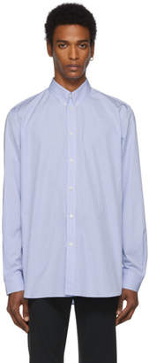Givenchy Blue and White Striped Atelier Shirt