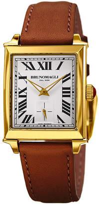 Bruno Magli 27mm Valentina Rectangular Watch, Brown/Gold
