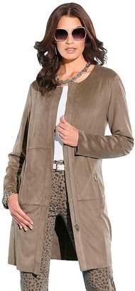 Creation L Longline Velour Jacket