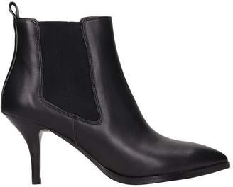 Bibi Lou Black Leather Ankle Boots