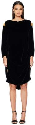 Vivienne Westwood Fatima Cold Shoulder Long Sleeve Velvet Dress Women's Dress