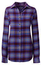 classic Women's Long Sleeve Flannel Shirt-Darkest Burgundy Plaid $49 thestylecure.com