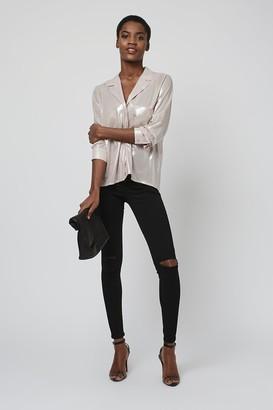 Topshop Black Ripped Joni Jeans
