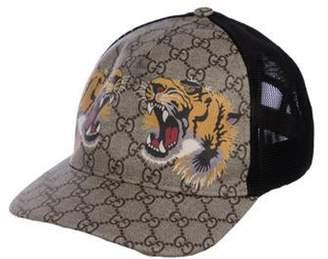 Gucci Supreme Tiger Baseball Cap Tan Supreme Tiger Baseball Cap