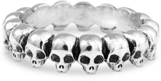 King Baby Studio Men's Skull Ring in Sterling Silver