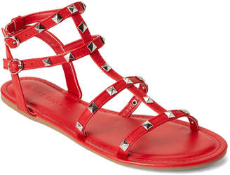 0958e0b152b Wild Diva Lounge Red Clover Caged Studded Sandals