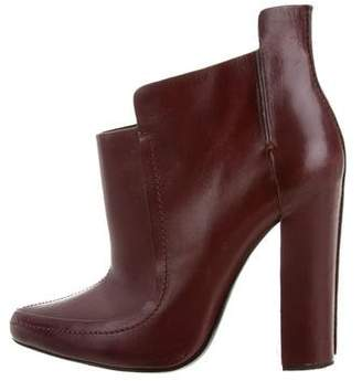Alexander Wang Leather Pointed-Toe Booties