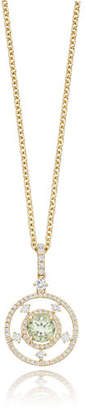 Kiki McDonough Apollo Green Amethyst & Diamond Pendant Necklace