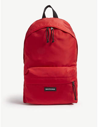 Balenciaga Logo nylon backpack