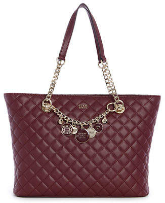 GUESS Victoria Quilted Tote