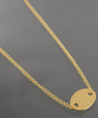 Gorjana gold double strand 'Oval Tag' necklace
