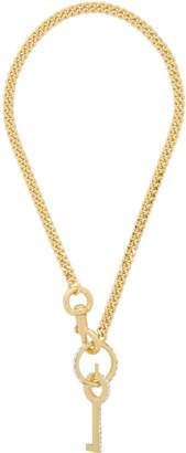 Marc Jacobs Gold The Key Chain Pendant Necklace.