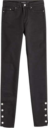 Karl Lagerfeld Skinny Jeans with Buttoned Ankles