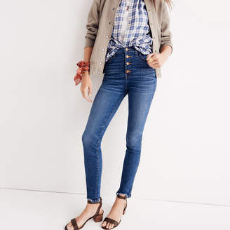 "10"" High-Rise Skinny Jeans: Chewed-Hem Edition $135 thestylecure.com"