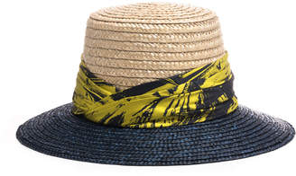Eugenia Kim Stevie Two-Tone Straw Sun Hat