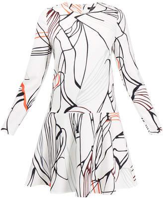 Raoul Avalon Flower Print Mini Skater Dress
