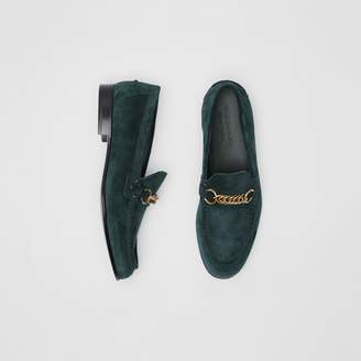 Burberry The Suede Link Loafer , Size: 43, Green