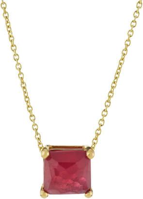 Ippolita 18k Rock Candy Mini Single Square Sliding Composite Ruby Pendant Necklace