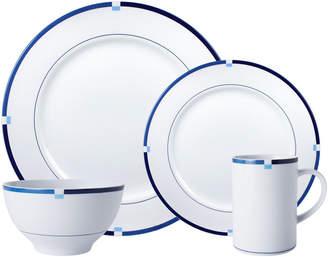 Mikasa Jet Set Blue 32 Piece Dinnerware Set