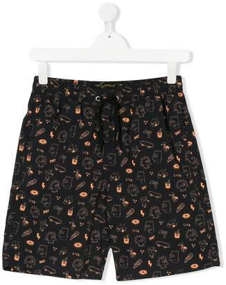 Finger In The Nose TEEN The Simpsons print shorts