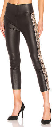 SPRWMN Leather Snake Stripe Capri