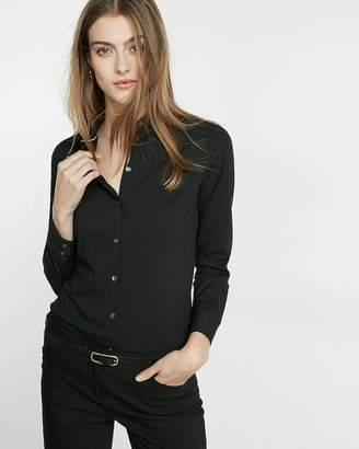 Express Slim Fit Long Sleeve Essential Shirt