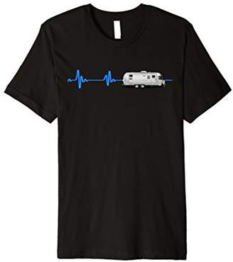Airstream A Great t-shirt with a blue neon heartbeat!!