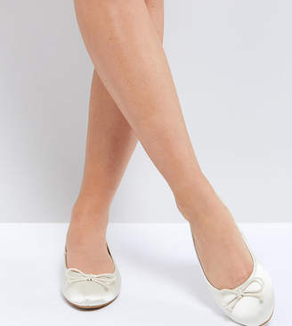 Asos Libra Wide Fit Bridal Ballet Flats