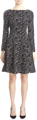 Women's Lela Rose Minnow Reversible Jacquard Fit & Flare Dress $1,295 thestylecure.com